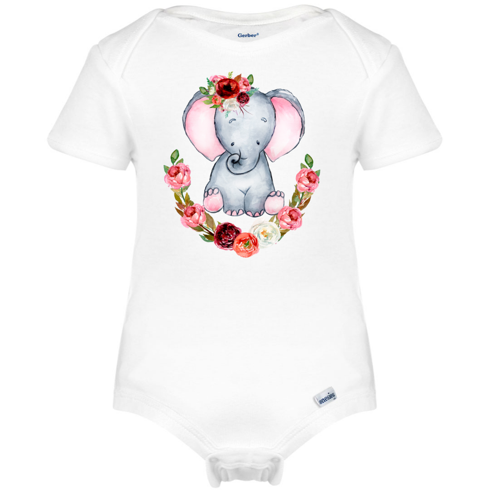 45c923961 Cute Elephant Baby Onesie®, Boho Baby Clothes – Boho Baby Dreams