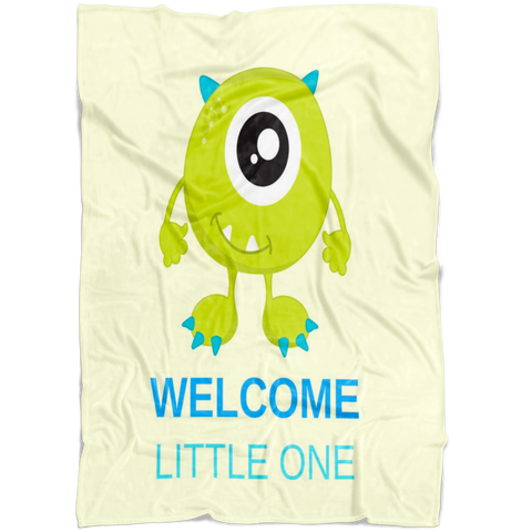 Yellow Welcome Little One Baby Blanket | Gender Reveal Baby Shower!