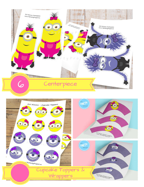 DIY Girl Minion party package | Despicable me party printables!