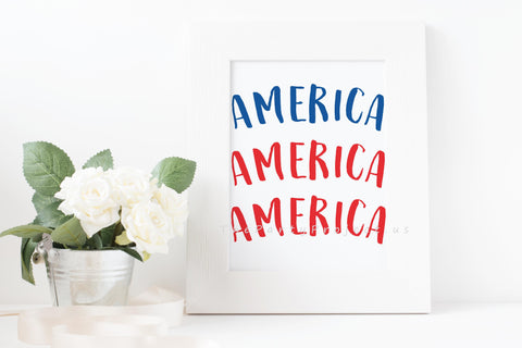 America wall art | Patriotic Printable wall decorations - DIY Home decor.