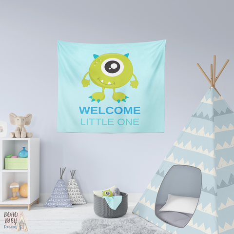 Welcome Little one Blue Tapestry | Baby Shower Gift!