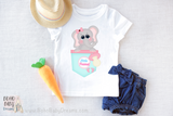 Little Peanut Baby Girl T-shirt | Cute Elephant Baby Girl Graphic Tee!