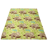 Baby Shower Gift - Travel Blanket - Baby Shower Sloth - Baby Blanket Sloth Bedding