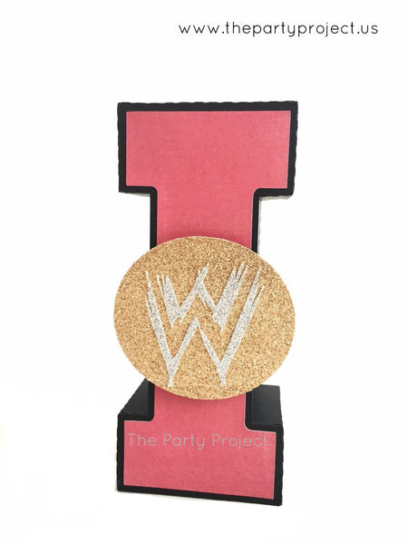 "Wrestling 3D Letters 5.5""H 