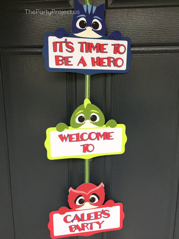 PJ Masks Door Sign | Pjmasks superhero personalized welcome sign!