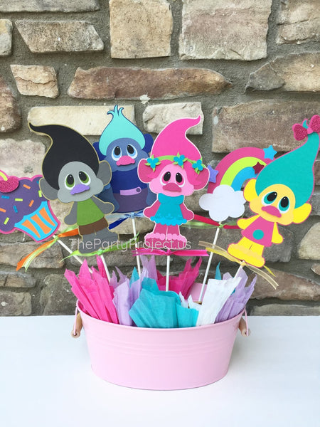 Trolls centerpiece | Trolls birthday party - baby shower - Nursery decor!