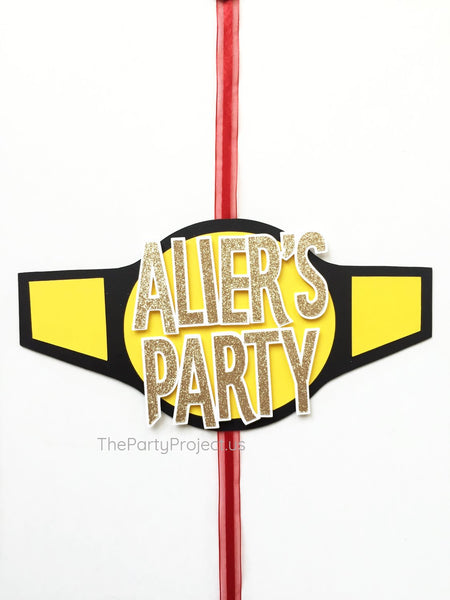 Wrestling Door Sign | WWE Themed party welcome banner.