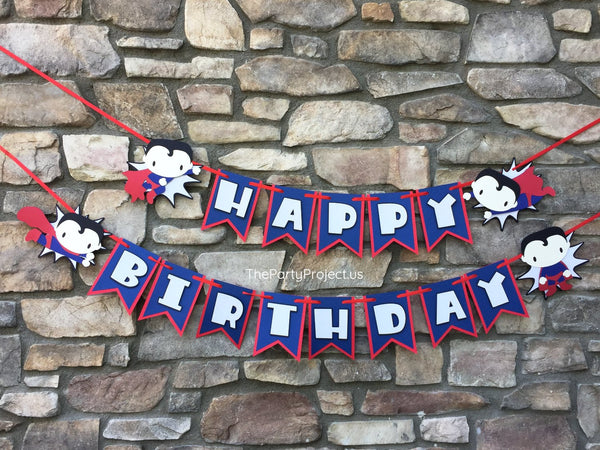 "Superman ""Happy Birthday"" banner 