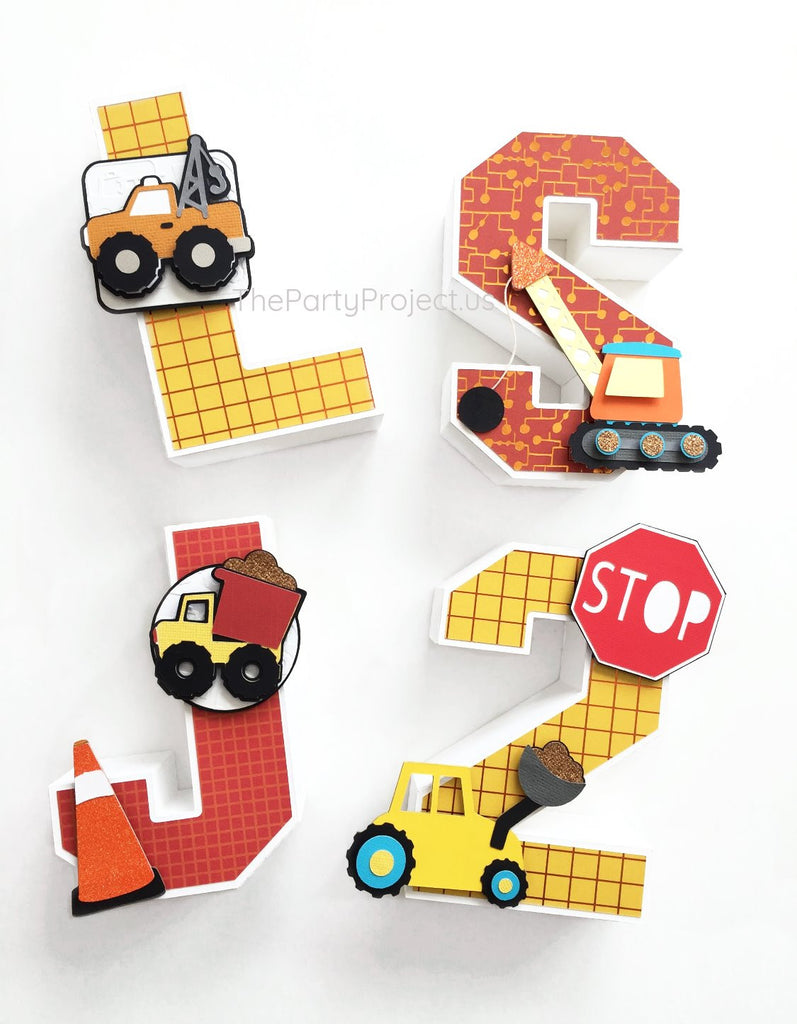 "Construction 3D Letters 5.5""H 