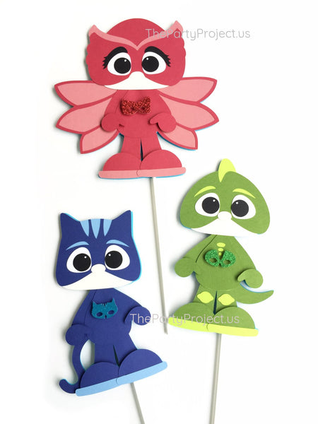 PJ Masks centerpiece | PJMasks birthday party decorations.