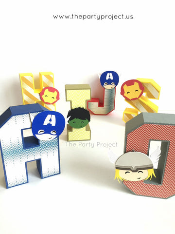"Avengers 3D Letters 5.5""H 