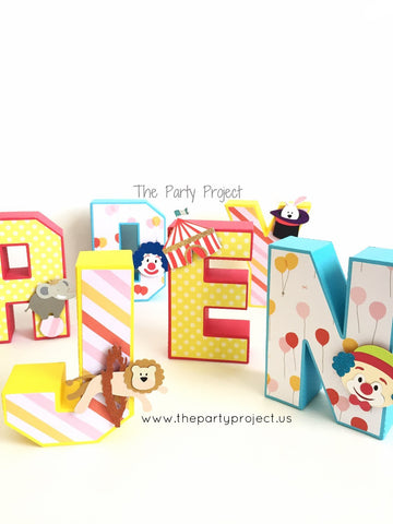 "Circus 3D Letters 5.5""H 
