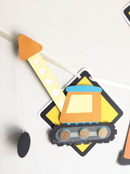 "Construction ""Happy Birthday"" banner 