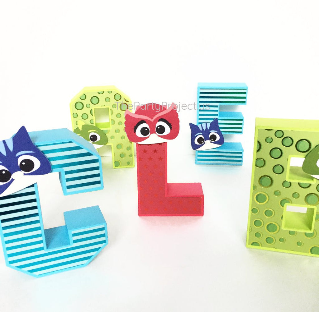 "PJ Masks 3D Letters 5.5""H 