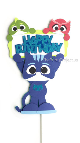 PJ Masks Cake Topper | Pjmasks themed birthday party decor!