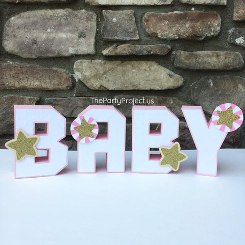 "Twinkle Twinkle Little Star themed 3D Letters 5.5""H 