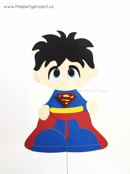 Superhero Centerpiece | Comics book hero birthday party | Superman nursery décor.