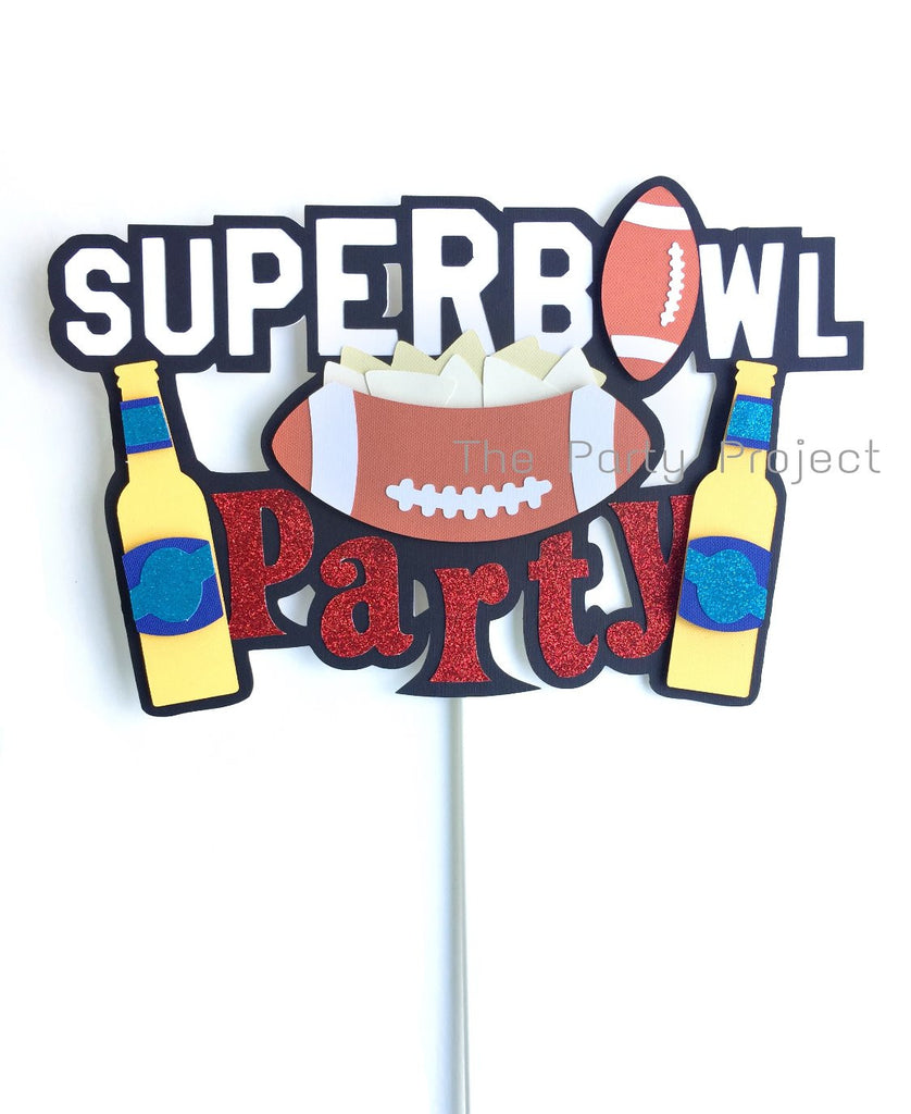 Super Bowl Cake topper | Football themed party decorations.