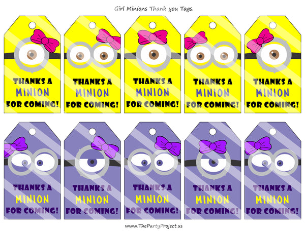 THE PARTY PROJECT | Girl minion favor you tags