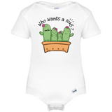 Who Wants a Hug Baby Onesie®, Cactus Baby Clothes