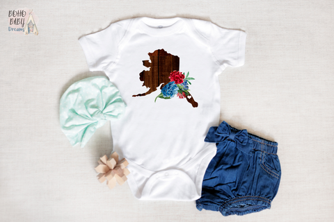 Alaska Baby Bodysuit, Wooden State Boho Baby Clothes