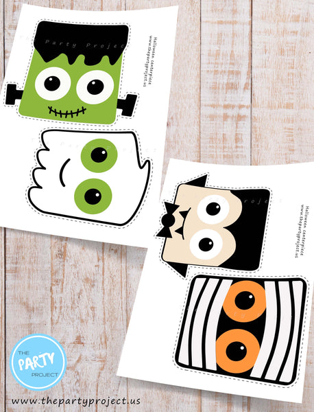 Printable Halloween centerpiece | Cutest DIY Halloween party decorations by The Party Project