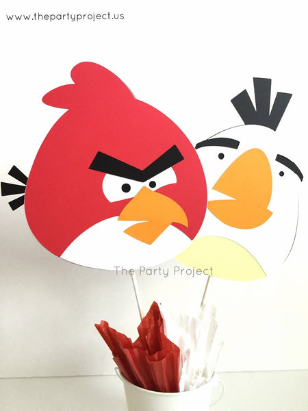 Angry birds centerpiece | Angry Birds party decorations.