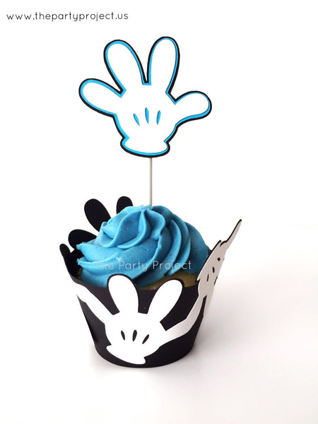12 Mickey Mouse Cupcake toppers | Mickey clubhouse cupcake picks!
