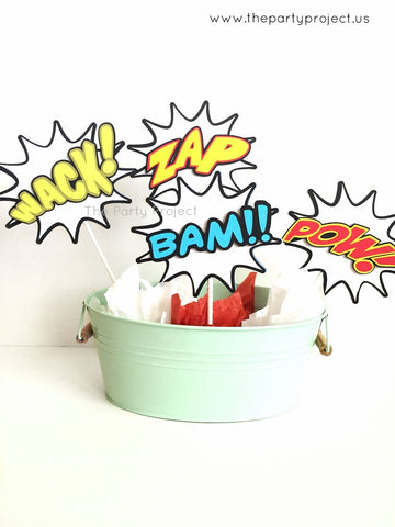 Comics Book centerpiece | Avengers superheroes party Photo Props!