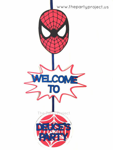Spiderman door sign | Superhero personalized welcome sign.