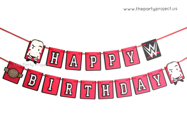 "Wrestling ""Happy Birthday"" banner 