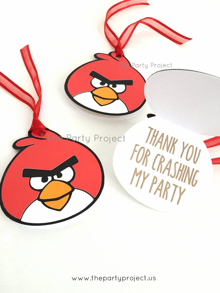 12 Angry birds Thank You tags | Angry Birds favor tags.