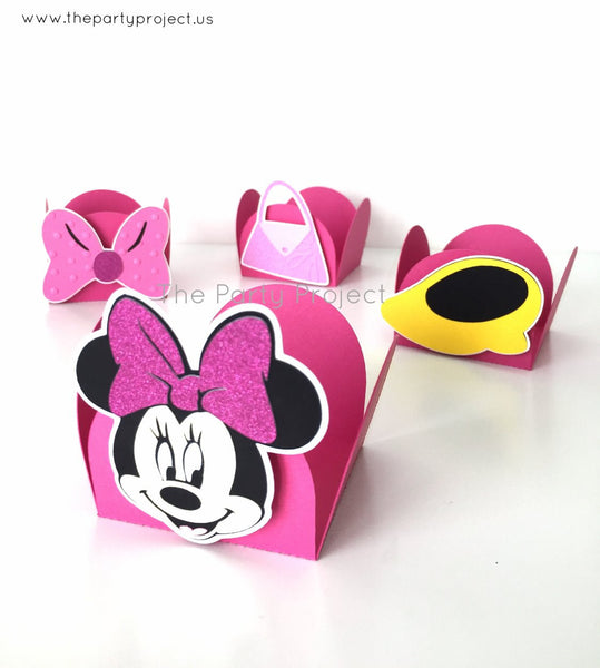 12 Minnie treat holders | Strawberry - Truffle candy cups.