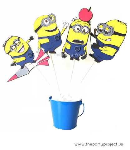 Minions Centerpiece | Minions party decorations.