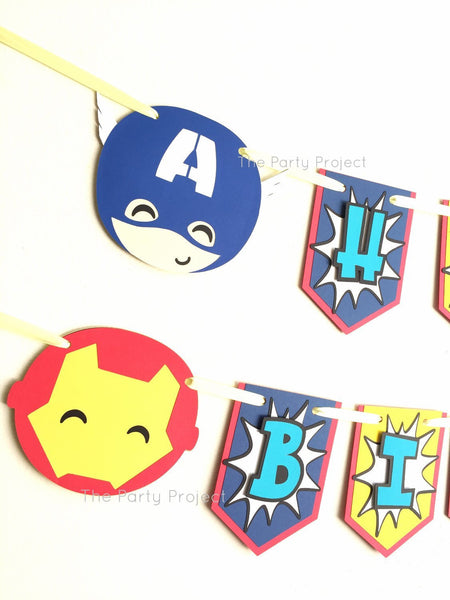 "Avengers ""Happy Birthday"" banner 