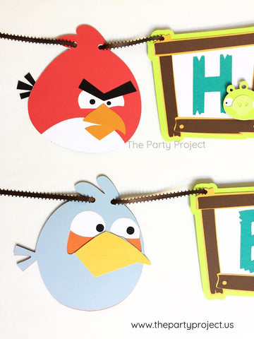 "Angry Birds ""Happy Birthday"" banner 