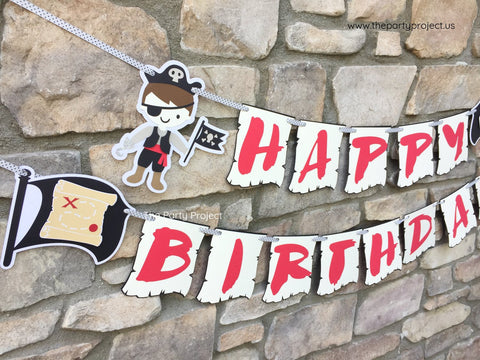 "Pirate ""Happy Birthday"" Banner 