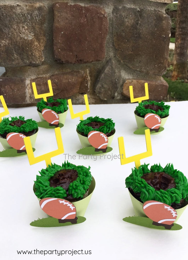 12 Football cupcake wrappers | Super Bowl | NFL Cupcake liners.