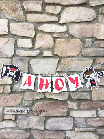 "Pirate ""AHOY"" Banner 