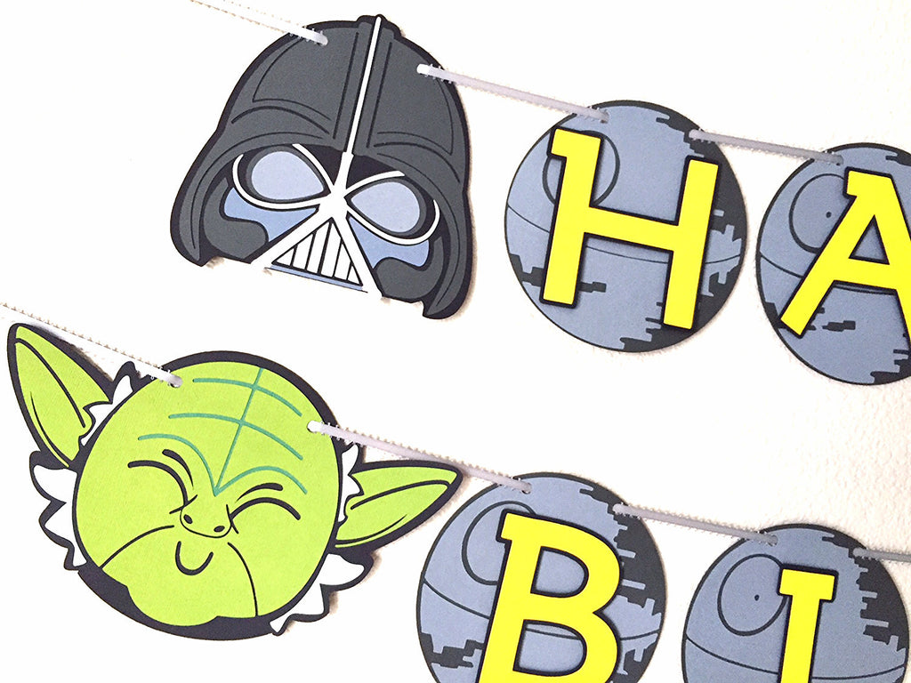 "Star Wars ""Happy Birthday"" banner 