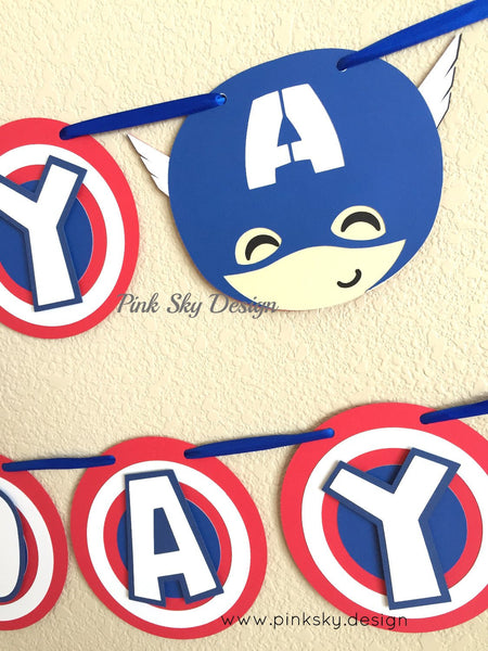 "Captain America ""Happy Birthday"" banner 
