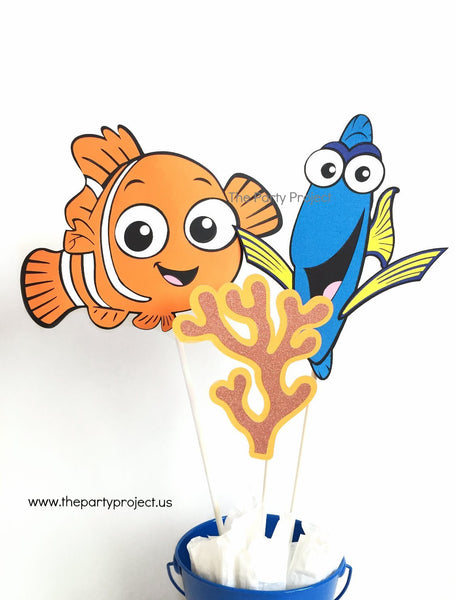 Finding Nemo Centerpiece | Nemo - Dory party décor.