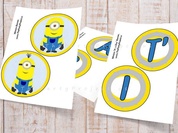 Banner baby shower minions imprimible
