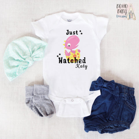 Just Hatched PERSONALIZED Onesie®, Dino Baby Clothes!