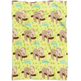 Sloth - Lovey Sloth Baby Blanket - Sleeping Sloth Baby Blanket - Baby Boy Gift - Baby Girl Gift - Newborn Swaddle