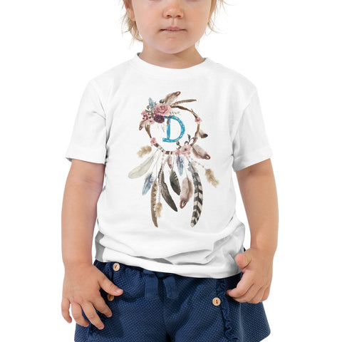 PERSONALIZED Name Initial Girl T-shirt, Dreamcatcher Toddler Tee