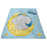 Baby Blanket - Little one Theme Nursery - Cute Elephant Bedding -  Elephant Blanket - Receiving Blanket - Nursery Decorations