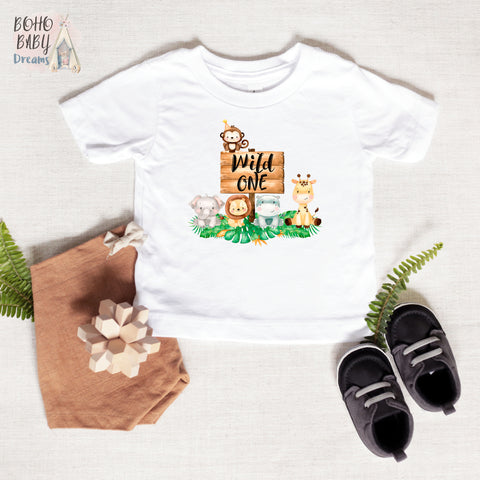 Wild One Safari Baby Shirt, Safari Baby Clothes