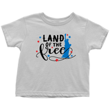 Land of the Free Baby and Toddler Shirt, Patriotic Baby Clothes
