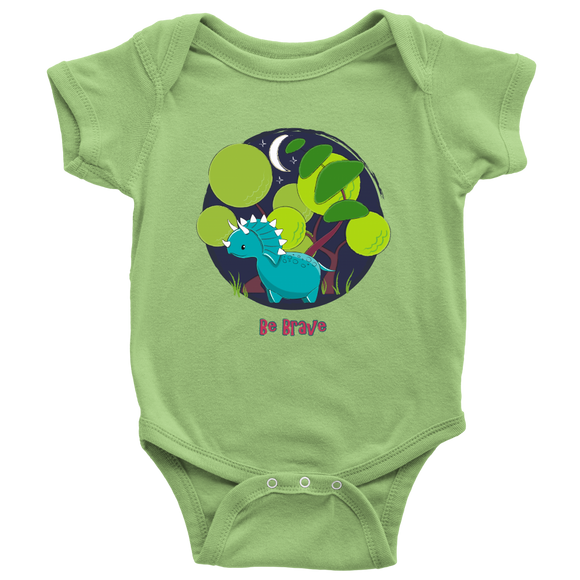 THE PARTY PROJECT | Dinosaur onesie | Be brave dino baby bodysuit! baby clothes